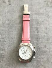 FCUK Ladies Chronograph Watch Pink Leather Strap