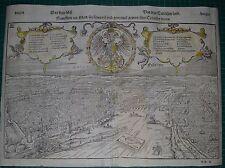 Frankfurt am Main, Holzschnitt von Sebastian Münster um 1588,  SELTEN