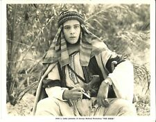 THE SHEIK (1921) Rudolph Valentino Close Shot Holding a Cigarette and Glaring