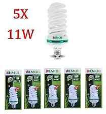 LIGHTBULB DAYLIGHT BULB E27 SPIRAL ENERGY SAVER BULB 11 WATTS X5 11W 6400K CFL