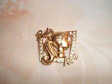 AVON 1998 BARBIE PIN GOLD TONE NO BOX