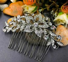 beautiful elegant wedding bridal hair comb crystal rhinestone ha10159