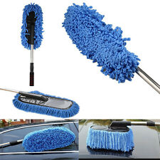 Telescoping Microfiber Duster Extendable Cleaning Dust Home Office Car Tool Blue