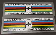 Colnago Seat Champion Stripes Decals (sku Coln315)