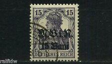Rumänien 15 Bani Germania 1917 bessere Farbe Michel 5 a geprüft (S9500)