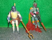Star Wars Mandalorian BOBA FETT Animated Debut + Pit of Carkoon Figure Lot USED