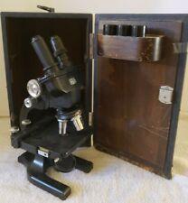 Antique 1942 SPENCER Buffalo Binocular Compound Cast Iron Scientific Microscope