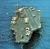 USS Dwight D Eisenhower CVN-69 Nimitz-class aircraft carrier Vintage Postcard