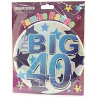 "MALE/BOY BIRTHDAY BADGES - 6"" / 15cm (Giant) BADGE (Party/Boy/Male/Ages)"
