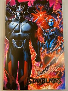 All Caps Comics STARBLADES VILLAINS variant FIRST ISSUE SIGNED by Kyle Ritter