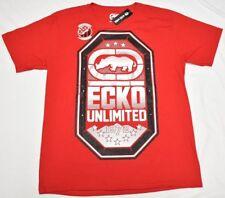 Ecko Unltd T-Shirt Men's Size L Rhino Logo Graphic Tee Red Urban Streetwear P025