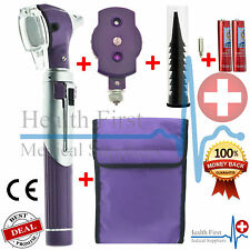Purple F.O Otoscope Ophthalmoscope Opthalmoscope ENT Diagnostic Examination Set
