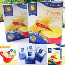 Lady Anna Instant Soup Cream of Corn Oriental style , No MSG ,1 Box = 4 Sachets