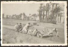 MAROC PHOTO MILITAIRES CABRIOLET SIMCA-FIAT ? RENAULT ? 1935 ?