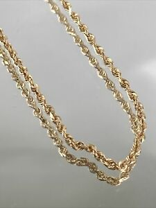 """14K Rope Necklace in Yellow Gold 20"""""""