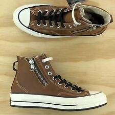 Converse X Riri Chuck Taylor 70 Hi Top Tan Brown Leather Zip Shoes 163088C Sz 8