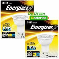 2x Energizer GU10 5.7W = 50W LED Bulb Spotlight 345 Lumens Dimmable High Power