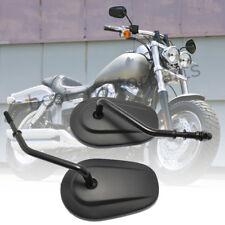 Motorcycle Black Custom Rear View Side Mirrors For Harley Davidson Softail Slim