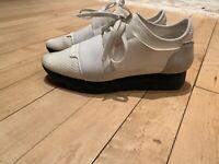 Balenciaga Ladies White Sneaker Mix Material Size 37