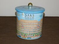 "VINTAGE 7"" HIGH SAKS FIFTH AVENUE METAL TIN CAN *EMPTY*"