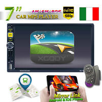 "7"" 2DIN AUTORADIO BLUETOOTH STEREO MP5 GPS NAVIGATORE MIRROR RDS AUX TF FM USB"
