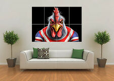 SYDNEY ROOSTERS INSPIRED RUGBY NRL MASCOT GIANT WALL ART POSTER PRINT
