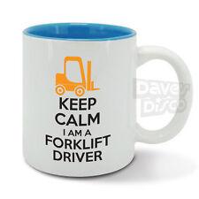 KEEP Calm I'm a FORKLIFT TRUCK DRIVER, cup, forklift, warehouse, transport mug