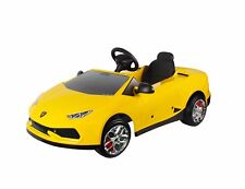 Licensed Lamborghini Huracan Kids Ride on Powered Car-Yellow