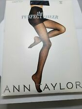 Ann Taylor Sheer Dot Black Pantyhose SZ Medium