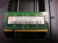 256MB Hynix Notebook RAM PC2-5300S 1Rx16 SO-DIMM HYMP532S64B96-Y5