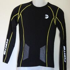 Fortis Mens Cycling Jersey Compression Black Long Sleeves. Size M. NWOT