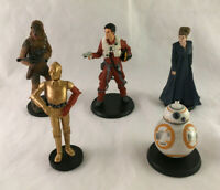 Lot of 5 Star Wars The Force Awakens Cake Toppers Figures - BB-8, Leia, Poe