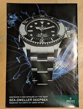 Original 2008 ROLEX  Sea-Dweller Deepsea watch print Ad.  Ephemera