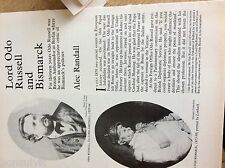 75-1 ephemera article lord odo russell and bismarck a randall