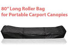 """Carport Canopy 80"""" Long Roller Bag Portable Garages Storage Shed Wheeled Shelter"""