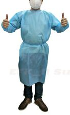 Dental 20Pcs Disposable Coveralls Surgical Gown Dust-proof Isolation Cloths Blue
