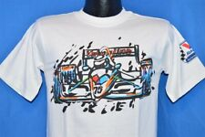 vintage 90s VALVOLINE INDY CAR RACING WHITE OIL RACE COTTON t-shirt SMALL S