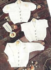 BABY CHILD CARDIGANS & WAISTCOAT MACHINE KNITTING PATTERN 16/22 INCH (1262)