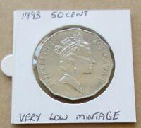 AUSTRALIAN DECIMAL..1993...50 CENT COIN.....*** LOW MINTAGE KEY DATE ***