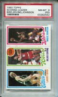 1980 Topps Basketball Larry Bird Magic Johnson Rookie Card PSA NM MINT 8 PD Dr J