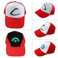 Snapback Animen Pokemon Baseball Cap Unisex Ash Ketchum Trainer Cosplay Sun Hat