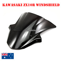 Black Double Bubble Windshield Windscreen Kawasaki Ninja ZX10R ZX 10R 2011-2015