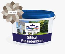 Fassadenfarbe Capital PAINT Silikat Fassadenbunt BEIGE NATUR BRAUN ATMUNGSAKTIV