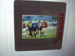 Press Photo slide negative Inter Milan v AC Milan group of players 27.1.2000