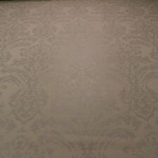 "COVINGTON GLAMOUR SILVER DAMASK METALLIC LINEN MULTIUSE FABRIC BY THE YARD 54""W"