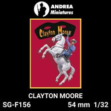 "Figurine miniature 54 mm ""CLAYTON MOORE Horse"" SG-F156 Andrea miniatures"