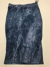 Eye Candy Pencil Skirt Stretchy Super Soft Women's Small New NWT Blue Denim-look