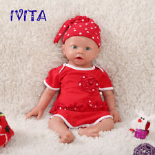IVITA 19'' Full Body Soft Silicone Reborn Doll Baby Girl Newborn Toy Gift 3700g