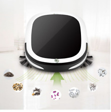 Automatic Smart Robot Vacuum Cleaner Dual Spinning Side Brush Lifts Debris