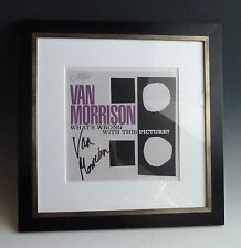 Van Morrison Blue Note signed LP-Cover What's Wrong With This Picture? Framed